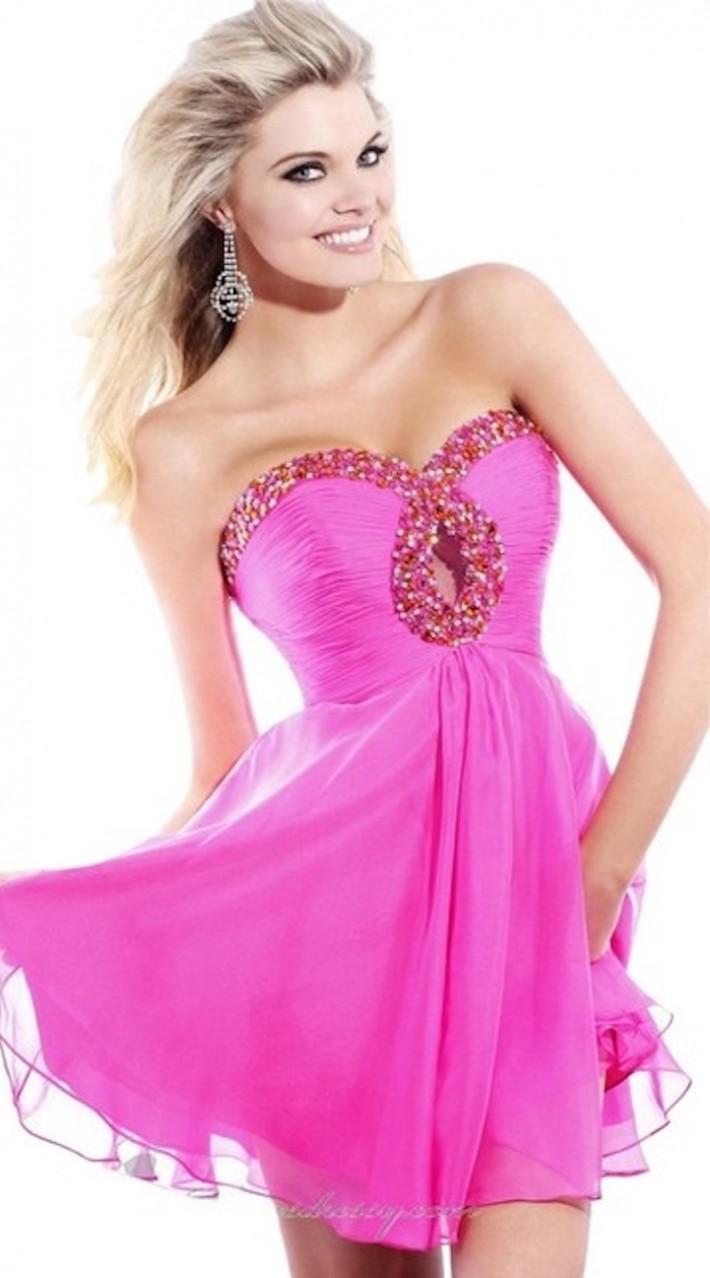 Hot Pink Sherri Hill Cocktail Dress