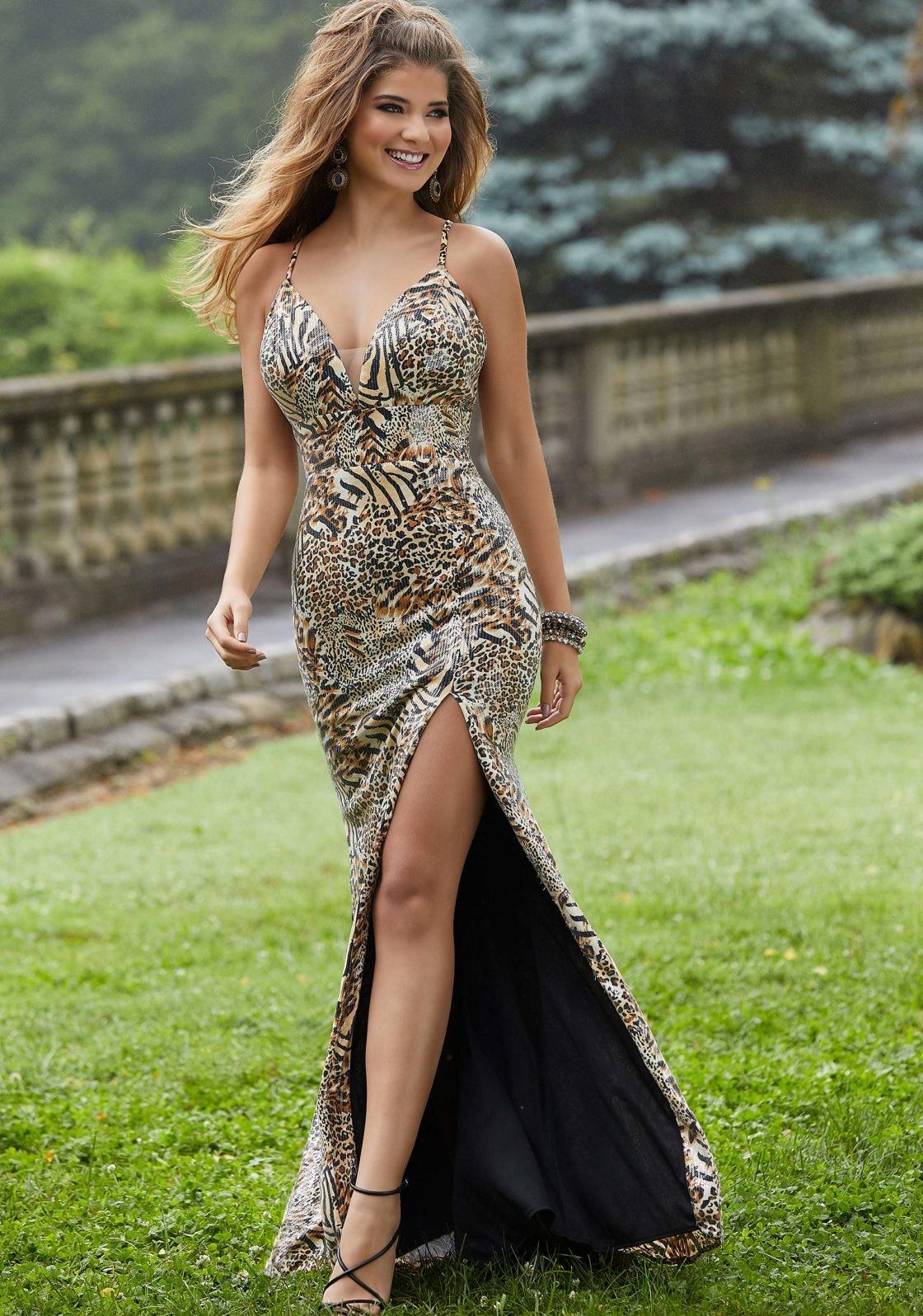 Mori Lee Tiger Print Gown