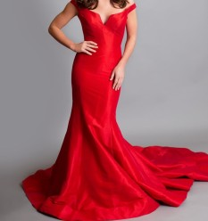 Red Jovani Couture Gown