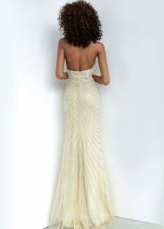 Jovani Nude beaded Prom Dress 00834
