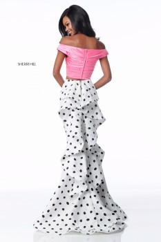 Sherri Hill Polka-Dot Two Piece 51865