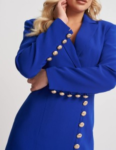 Blue Interview Dress by Forever Unique
