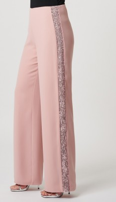 Nude Rose Sequin Suit Pant by Forever Unique