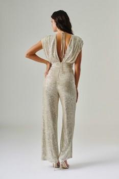 Silver Sequin Jumpsuit