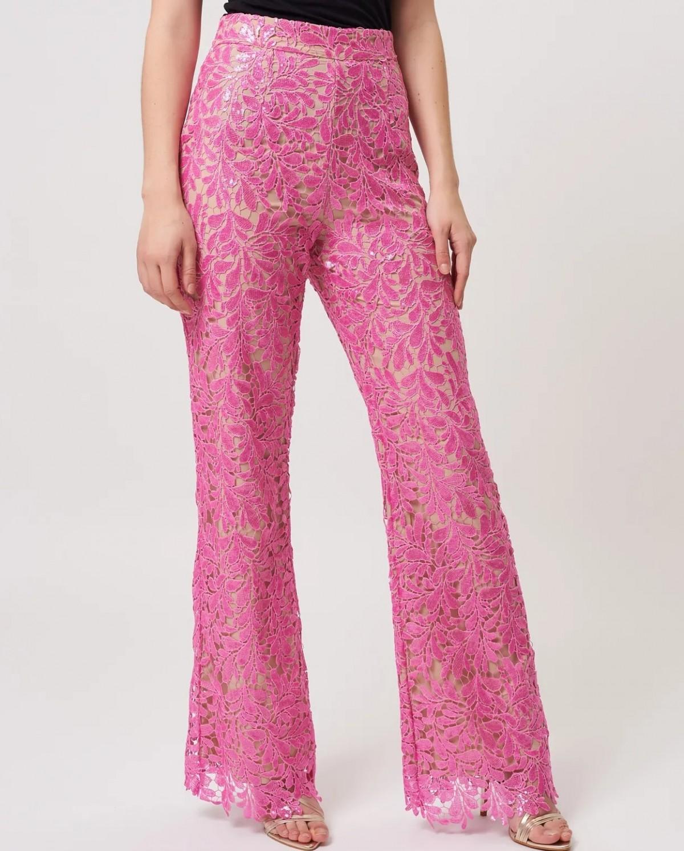 Lace Sequin Suit Pants by Forever Unique