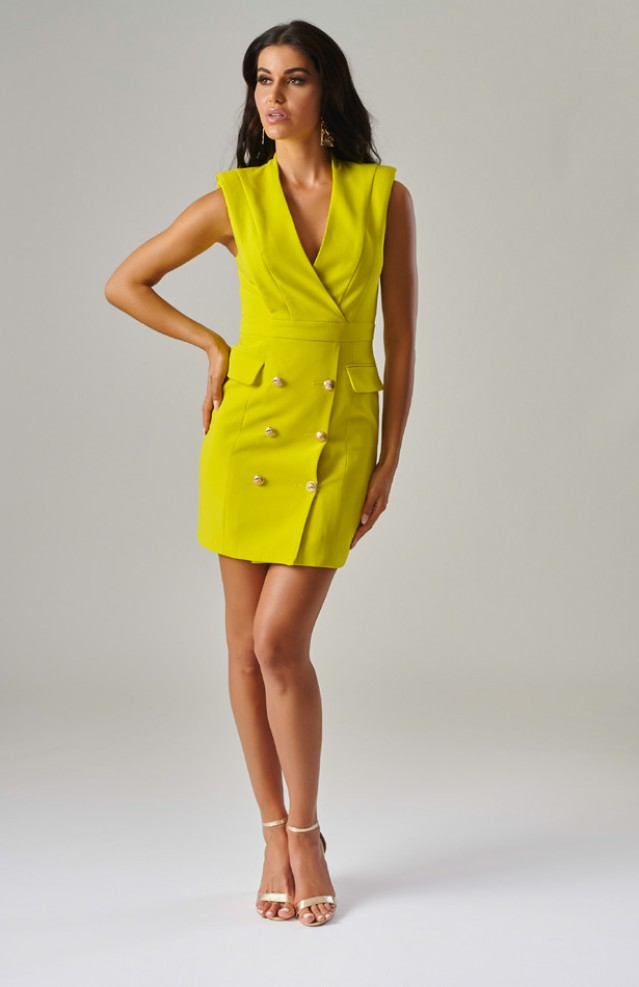 Lime Interview Dress by Forever Unique