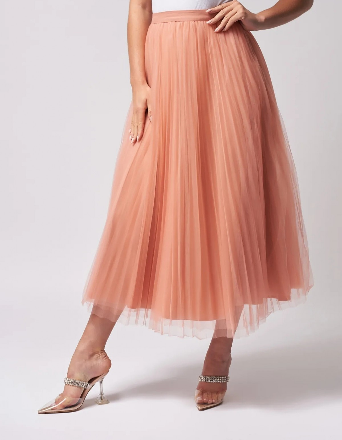 Coral Tulle Skirt by Forever Unique