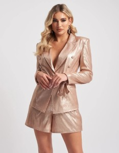 Nude Sequin Jacket by Forever Unique