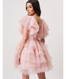 Light Pink Ruffle Dress by ForeverUnique