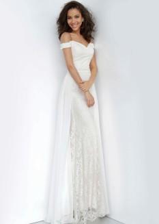 JVN by Jovani Lace Overskirt Dress JVN62489