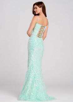 Ellie Wilde Iridescent Sequin Gown EW120143