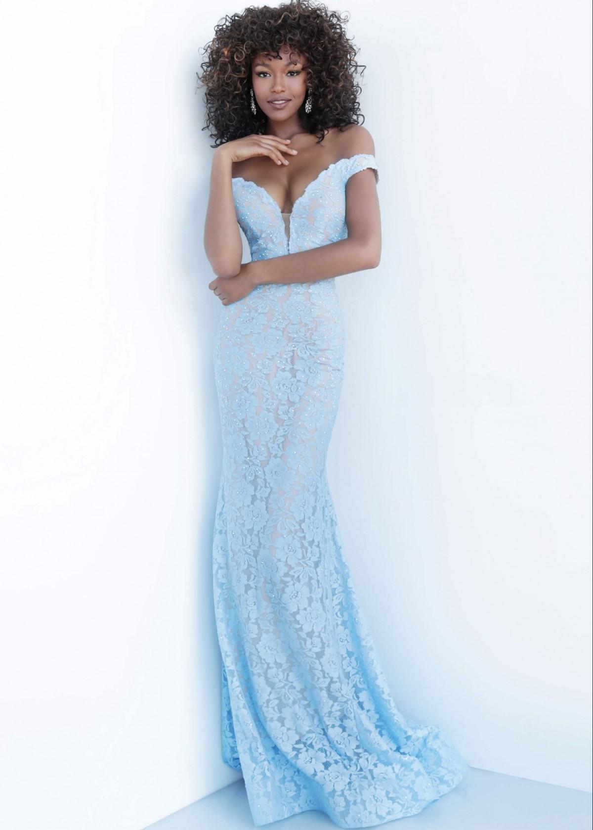 Jovani Lace Off-Shoulder Gown 67304
