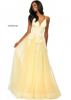 Sherri Hill Lace & Tulle Ball Gown 53730
