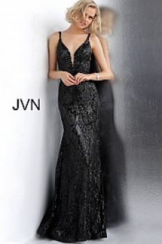 Metallic Sequined Long Sheath Gown JVN68131A (#1 on auction)