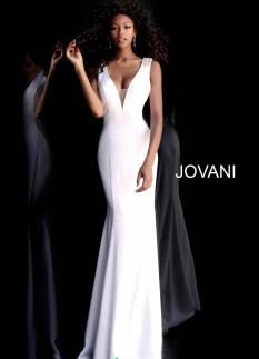 Jovani V-Neck Fitted Dress 66089
