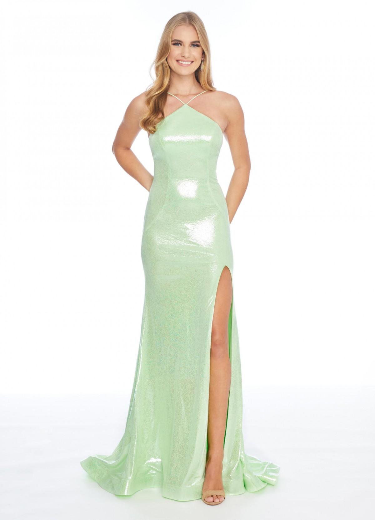 Ashley Lauren Metallic Jersey Gown 1862 (#13 on auction)