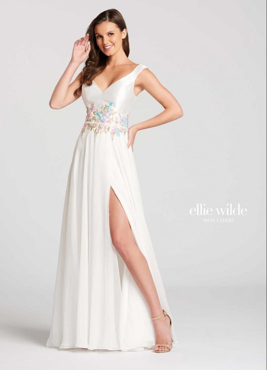 Ellie Wilde Chiffon, Satin A-line EW118045