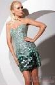 Tony Bowls Sequin Strapless Cocktail TS11389