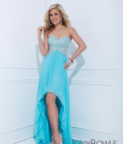 Tony Bowls strapless high low 114514