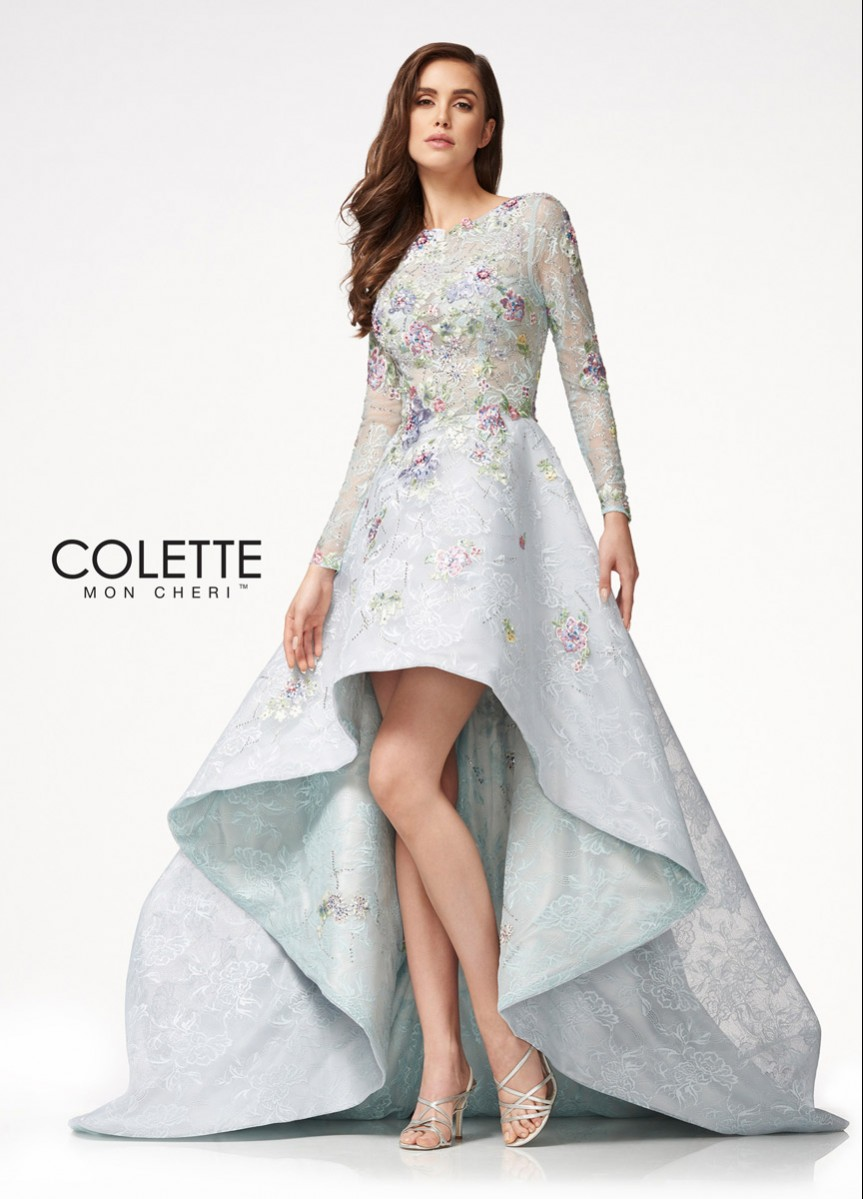 Colette long sleeve sequin and embroidered CL21732