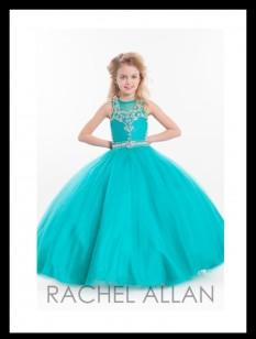 Rachel Allan Crystal Jade Ballgown 1605