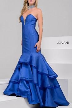 Jovani Strapless tiered mermaid #37099A