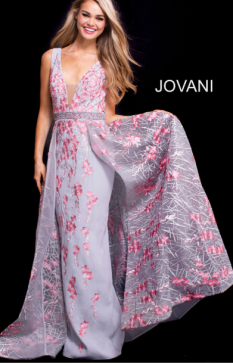 Jovani Embroidered floral #58935A