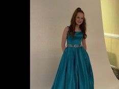 Sherri Hill Turquoise Formal Gown