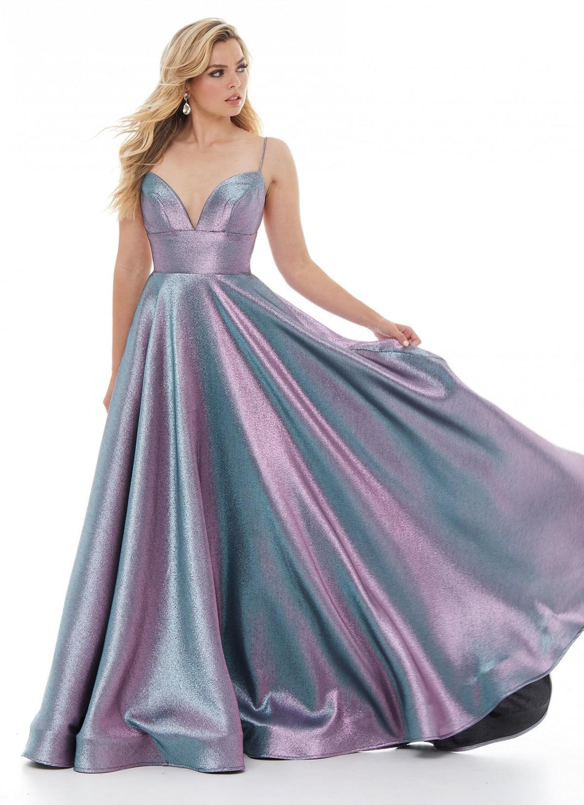 Ashley Lauren purple iridescent ballgown 1937