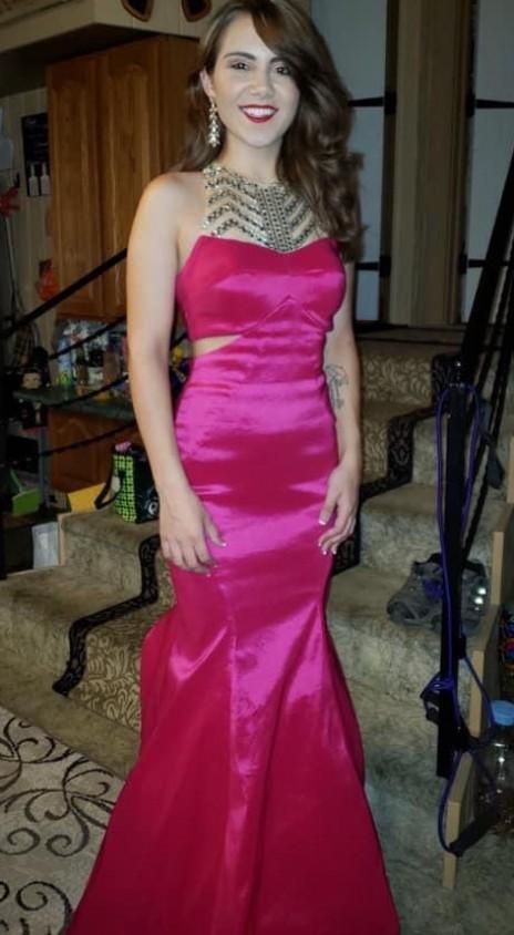 Pink mermaid gown