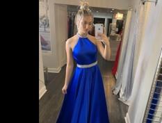 Ashley Lauren Royal Blue Ball gown
