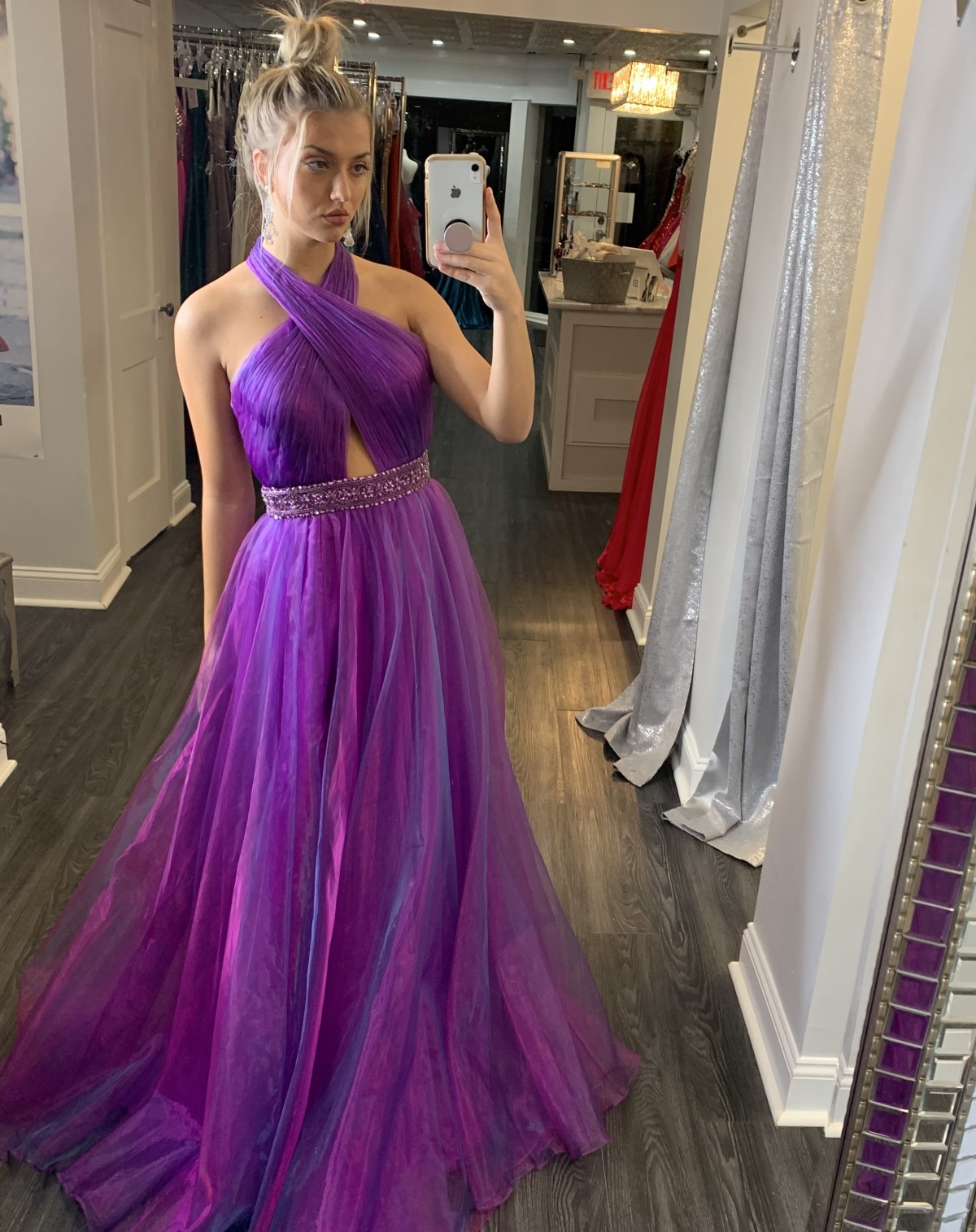 Purple Jovani ball gown