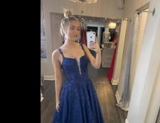 Navy blue Jovani ball gown