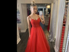 Red Hot Jovani Ball gown