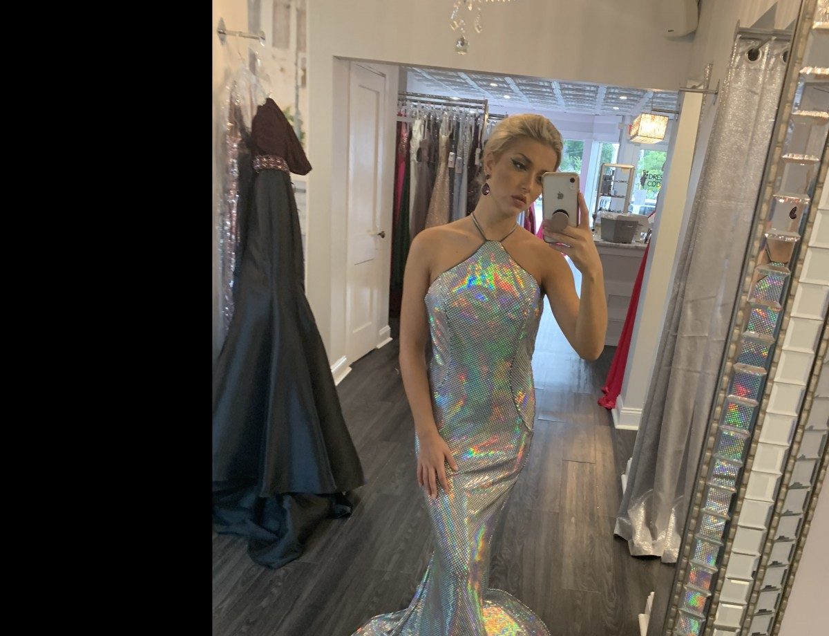 Gorgeous Hologram Terani pageant gown