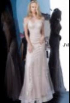 Jovani Cold Shoulder Embroidered Dress JVN02011
