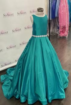 ASHLEY Lauren Kids Dress 8060 Girls Pageant Dress Jade Size 6