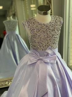 ASHLEY Lauren Kids Dress 8019 Girls Pageant Dress Lilac Size 10