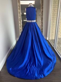 ASHLEY Lauren Kids Dress 8015 Girls Pageant Dress Royal Blue Size 16 - Tweens