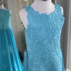 ASHLEY Lauren Kids Fun Fashion Runway For Girls - Tweens - 8055 Aqua Size 12