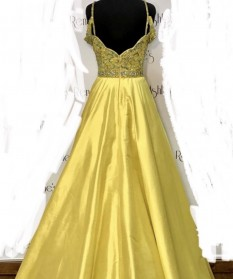 Sherri Hill Couture Yellow Ballgown