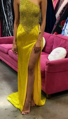 Sherri Hill Couture Yellow gown