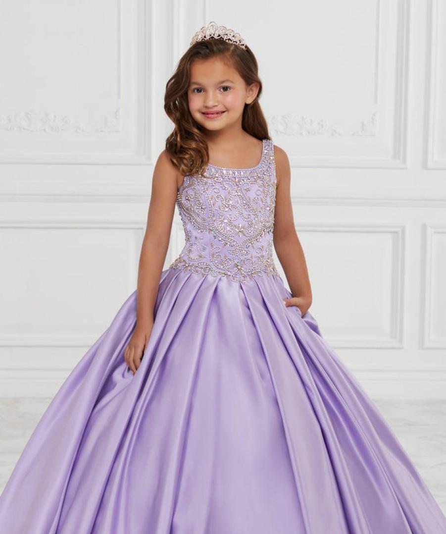 Tiffany Princess Girls Pageant Dress - Lilac  Size 10