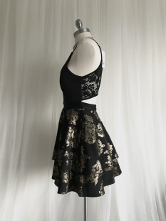 Black and Gold Semi-Formal Dress