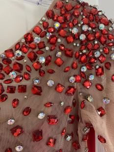 Red Sherri hill cocktail dress