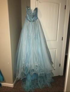 Light Aqua Sherri Hill Couture size 4