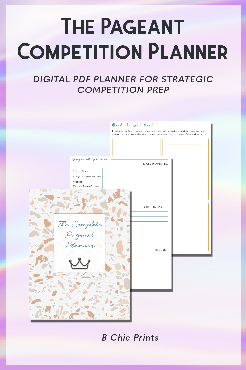 The Pageant Competition Prep Digital Planner