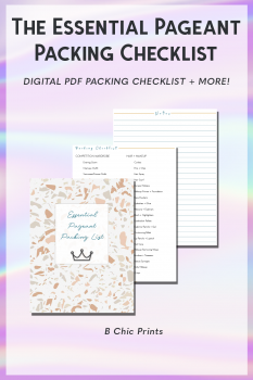 Essential Pageant Packing List