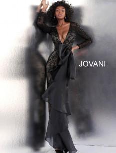 Jovani Black Bow Jumpsuit
