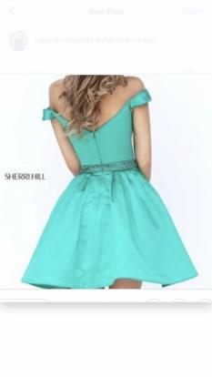 Sherri Hill Emerald Cocktail Dress